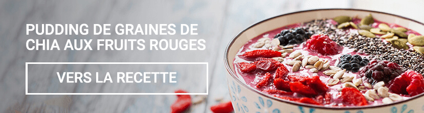 Pudding de graines de chia aux fruits rouges
